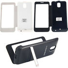 For Samsung Galaxy Note3 N9000 4200mAh External Backup Battery Charger Flip Case