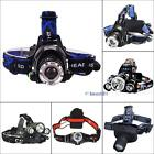 500LM-6000LM CREE XM-L T6/Q5 LED Zoomable Zoom Adjustable Headlamp Headlight BS
