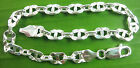 MADE IN ITALY 925 Sterling Silver Thick Heavy Link bracelet-anklet 8.25' - 10 '