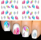 Pink Feather Nail Wraps Nail Art Nail Decals Water Transfers Salon Quality Y53