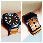 Handmade Vintage Light Brown Leather Watch Strap Band PAM or big watch.