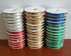 "NEW Double Face Satin Ribbon Roll 3/4"" 19mm x 100 yds Green Blue Gold White Red"