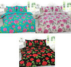 Meadow Floral Poly Cotton Printed Duvet Cover Pillowcase Quilt Cover Bedding Set