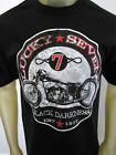 Lucky Motorcycle Moto-X street Biker Racing tee shirt men's black Choose A Size