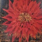 "AR030 Big Red Flower II Alan Hopfensberger 18""x18"" framed or unframed print"