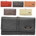 Ladies / Womens Large Matinee Leather Purse with Clip Frame Fastening