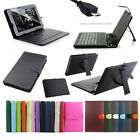 Micro USB Keyboard PU Leather Case Cover For 7 8 9 9.7 10.1 Android Tablet