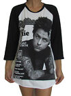 Unisex Billie Joe Armstrong Green Day Raglan 3/4 Length Sleeve Baseball T-Shirt