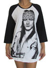 Unisex Axl Rose Raglan 3/4 Length Sleeve Baseball T-Shirt (Vest Tank Jumper)