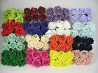 6cm Colourfast Artificial Foam Rose. Wedding/Craft Flowers. 6 heads, 40+ colours