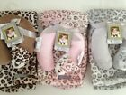 Blankets And & Beyond Baby Boy Girl Travel Pillow Set Brown Pink Grey Cheetah