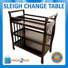 Baby Sleigh Nappy Dressing Change Changing Table Nursery Furniture Storage Shelf