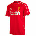 Liverpool Warrior short sleeved adults genuine home red football shirt 2014-15