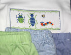 Boys smocked Tee Shirt Wiggly BUGS 18M Short Set Worms New Vive La Fete summer