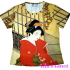 JAPANESE NOBLE GEISHA RED ROBE T SHIRT TOP ASIAN ART PRINT PAINTING JAPAN UKIYOE