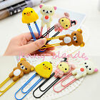 1pc Cartoon Animal Bookmarks Pad Note Memo Stationery Novelty Book Mark Bookworm