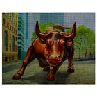 "Needlepoint canvas ""Wall Street Bull NYC"""