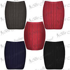 Womens Cable Chunky Knitted Bodycon Stretchy Ladies Pencil Tube Mini Short Skirt