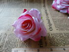 "6x Velvet rose Artificial Silk Flower Heads Wedding bridal decor garden 3"" 7.5cm"