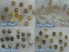 100pcs. Daisy Flower Metal Spacer Beads Finding 4mm or 5mm ✰✰USA Seller✰✰