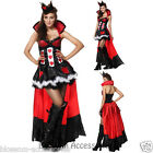 K54 Ladies Queen of Hearts Alice In Wonderland Fancy Dress Up Halloween Costume