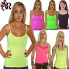 NEON STRAPPY VEST TOP  80S FANCY DRESS TUTU PARTY
