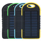Portable Power Bank Battery External 5000mAh Waterproof Solar Charger Dual USB