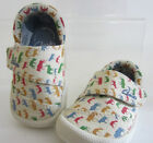 Clarks Choc Ice Baby toddler shoes Beige Cotton F fitting UK 3 X 5.5