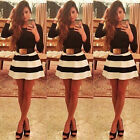 Sexy Women Long Sleeve Bodycon Ball Gown Party Evening Cocktail Dress Size 6-18