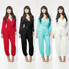 Women Sexy Jumpsuit Bandage Bodycon Playsuit Rompers Dress Clubwear Long Sleeve