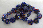 Millefiori Glass Beads, Multicolor 16mm Round Design, #cg181