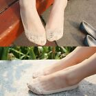 1x Soft Girl's Lace Invisible Shallow Mouth Socks Boat Non-slip Short Socks - CB