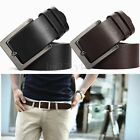 Luxury Men's Casual Waistband Leather Alloy Buckle Belt Waist Strap Belt New