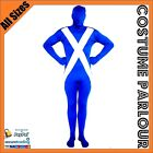 Scottish Flag Suit Zentai Scotland UK Second Skin Fancy Dress Costume All Sizes