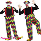 Smiffys Mens Hooped Funny Clown Costume Circus Fancy Dress Unisex Party Outfit