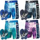 Smith & Jones Palm Tree Print Shorts & Flip Flops Set  Mens Size
