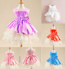 flower girl's toddler princess pageant party  flower bow floral dress party BKU