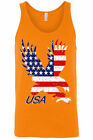 Men's Patriotic Tank Top USA Flag American Bald Eagle Stars & Stripes Old Glory