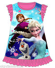 Girls Nightdress Disney Frozen Elsa Anna Nighty Pyjamas 2 - 8  NEW UK SELLER