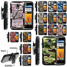 Armor Rugged Stand Belt Holster Clip Case ZTE Rapido Z932 Combo Camo Shell Cover