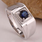 Custom Size Available Men's Rhodium Finish 925 Sterling Silver Ring Jewelry