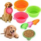 Cute Pet Dog Cat Silicone Collapsible Feeding Water Feeder Travel Bowl Dish - CB