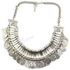 Turkish Coin Collar Jewelry Ethnic Belly Dance Boho Festival Statement Necklace