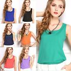 Nice Women's Summer Casual Chiffon Vest Tops Tank Sleeveless Shirt Blouse