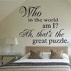 Alice in Wonderland Wall Quote Lewis Carroll Vinyl Sticker Art Transfer Decal