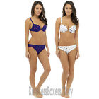 Spot Print Padded Underwired Bikini Top and Bottoms Set Size 10,12,14,16,18 NEW