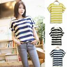 Women's Chiffon Blouse Sheer Tops Girl Casual Batwing Short Sleeve Loose T-Shirt