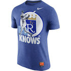 Men's Kansas City Royals Bo Jackson Poster Blue T-Shirt