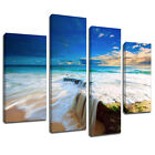 MSC121 Waterfall Ocean Beach Canvas Wall Art Multi Panel Split Picture Print