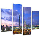 MSC141 Dubai Sklyine Canvas Wall Art Multi Panel Split Picture Print